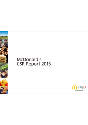 csr at mcdonalds Mcdonald's stakeholders' interests and corporate social responsibility programs are discussed in this case study and analysis on the firm's csr performance.